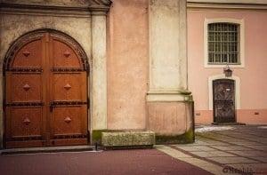 Wejście do kościoła św. Mikołaja 2017 r.