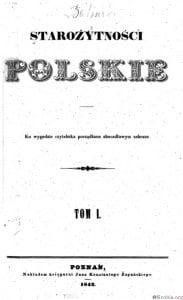 Starożytności Polskie 1842 rok tom_1