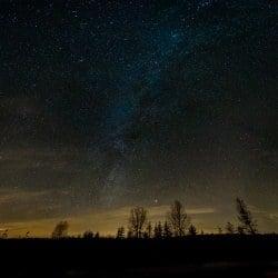 Droga Mleczna nad Krobią