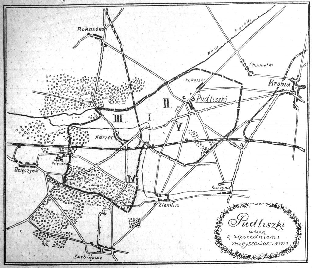 Mapa Pudliszek 1935