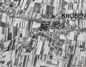 Zdjęcie lotnicze Krobia 1940 r.