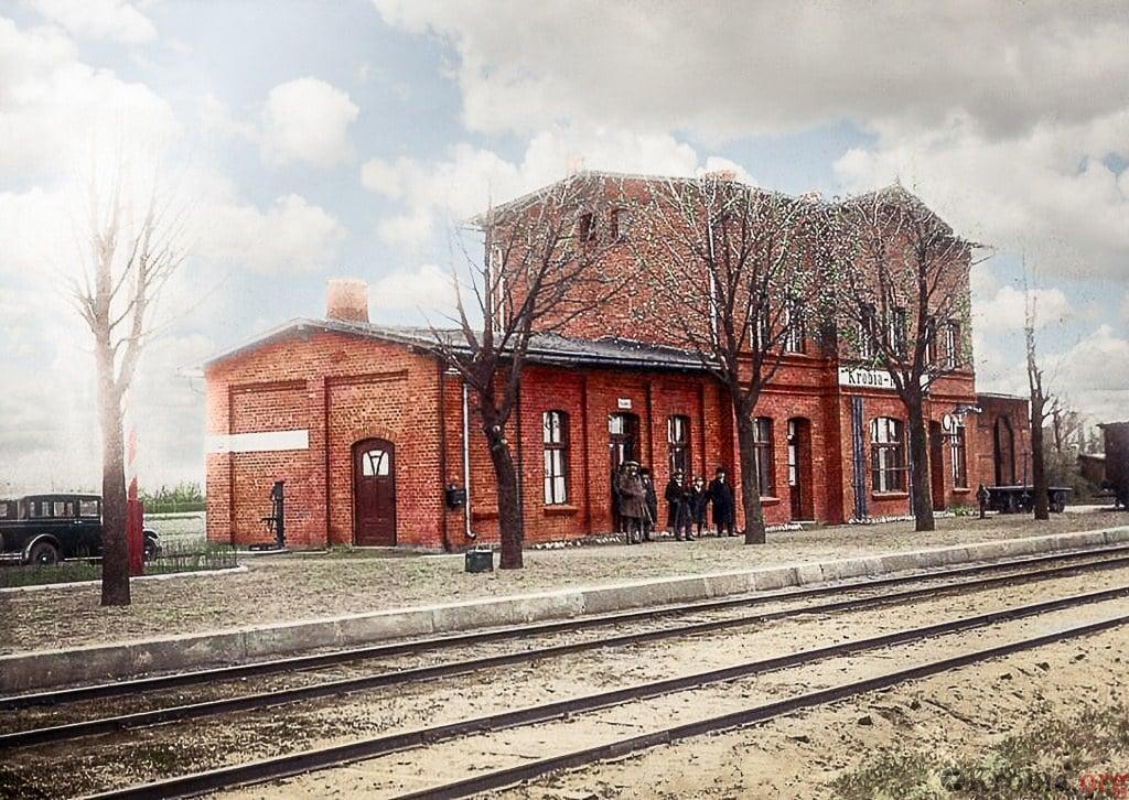 Dworzec kolejowy w Krobi