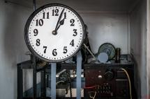 Zegar na wieży ratusza w Krobi