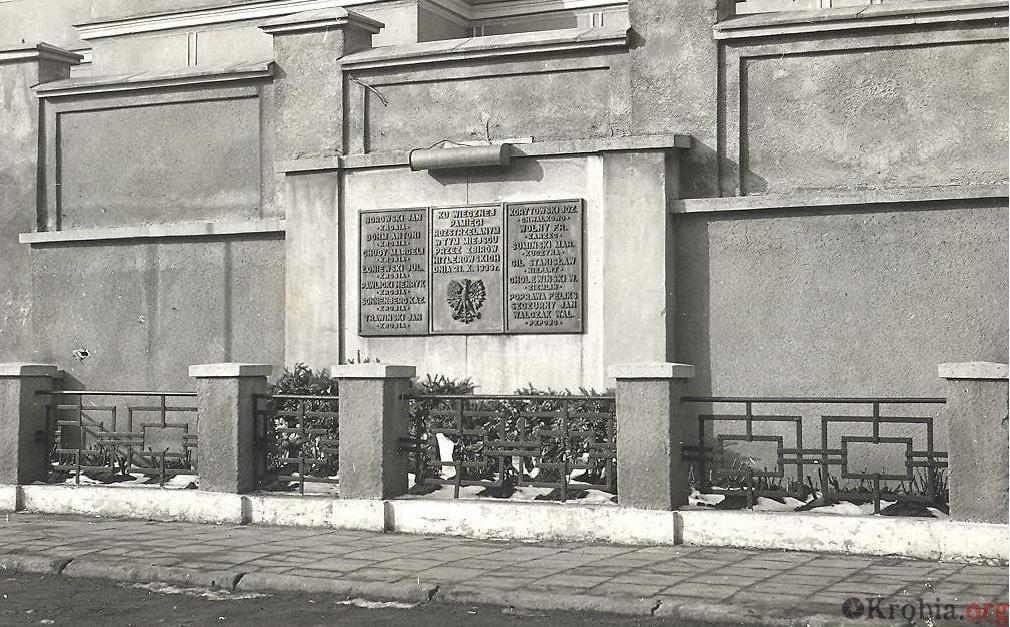 Krobia pomnik w miejscu egzekucji