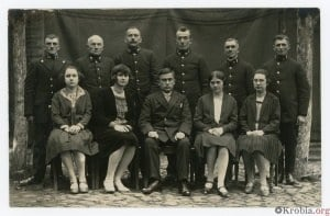 Pracownicy poczty w Krobi przed wojną