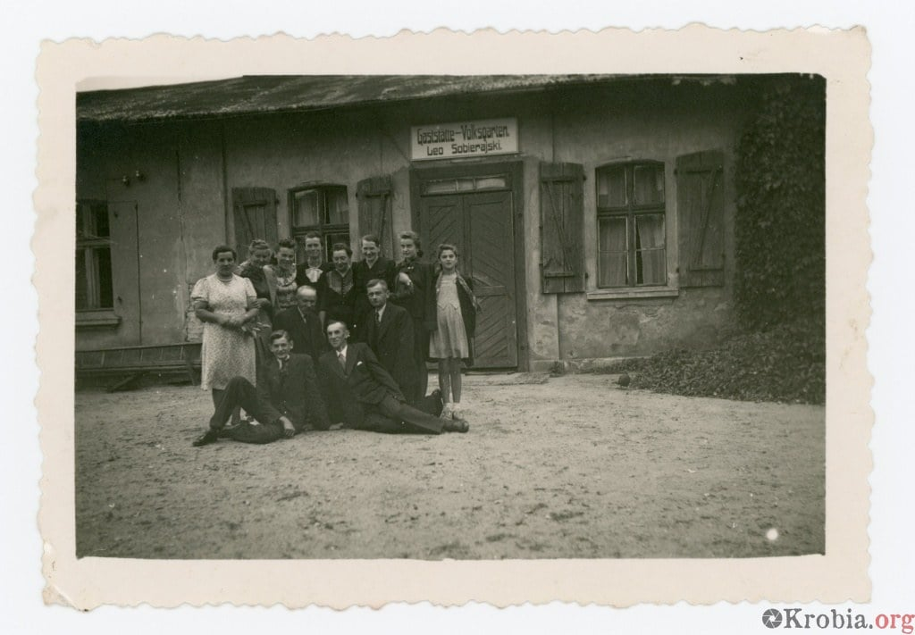 Ogród ludowy Sobierajski Krobia 1943 r.