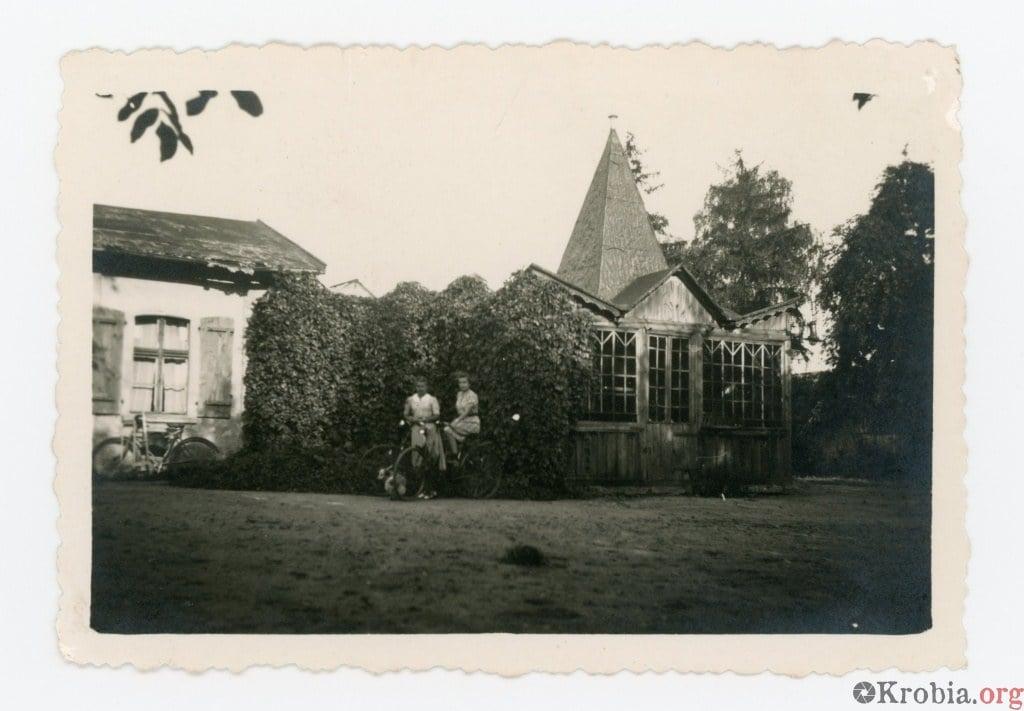 Ogród ludowy Sobierajski Krobia w czasach okupacji