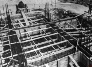Odbudowa wieży kościoła Krobia, Fundamenty