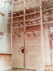 Odbudowa wieży kościoła Krobia