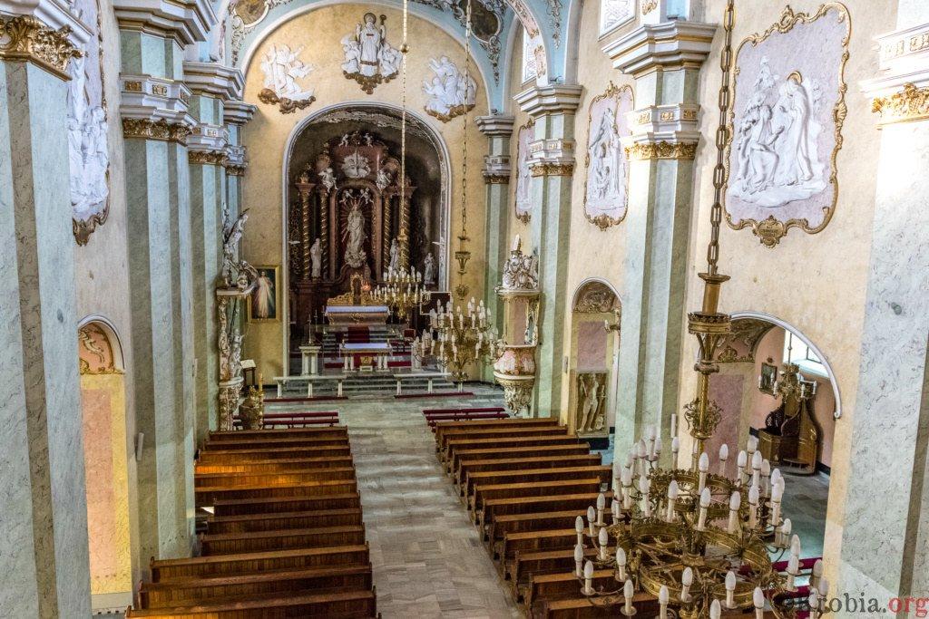 Widok z chóru w kościele św. Mikołaja w Krobi